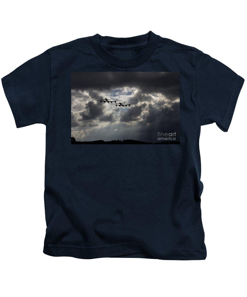 Avro Kids T-Shirt featuring the digital art Chasing Thumper by J Biggadike