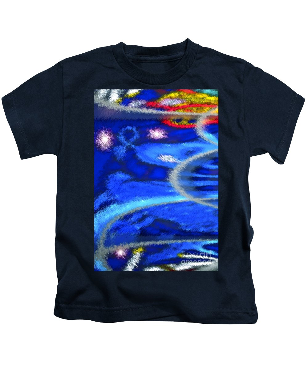 Abstract Kids T-Shirt featuring the mixed media Cheers To A New Year by Gwyn Newcombe