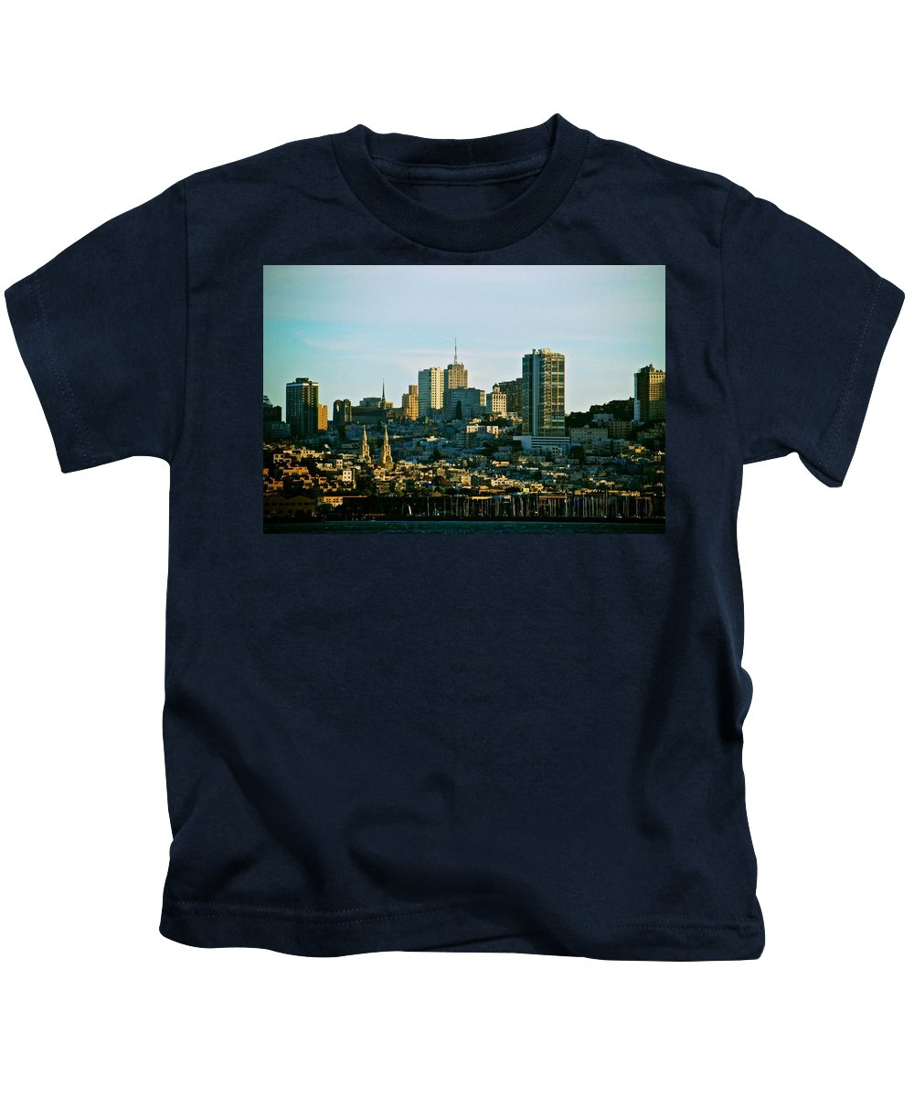 San Francisco Kids T-Shirt featuring the photograph City By The Bay by Eric Tressler