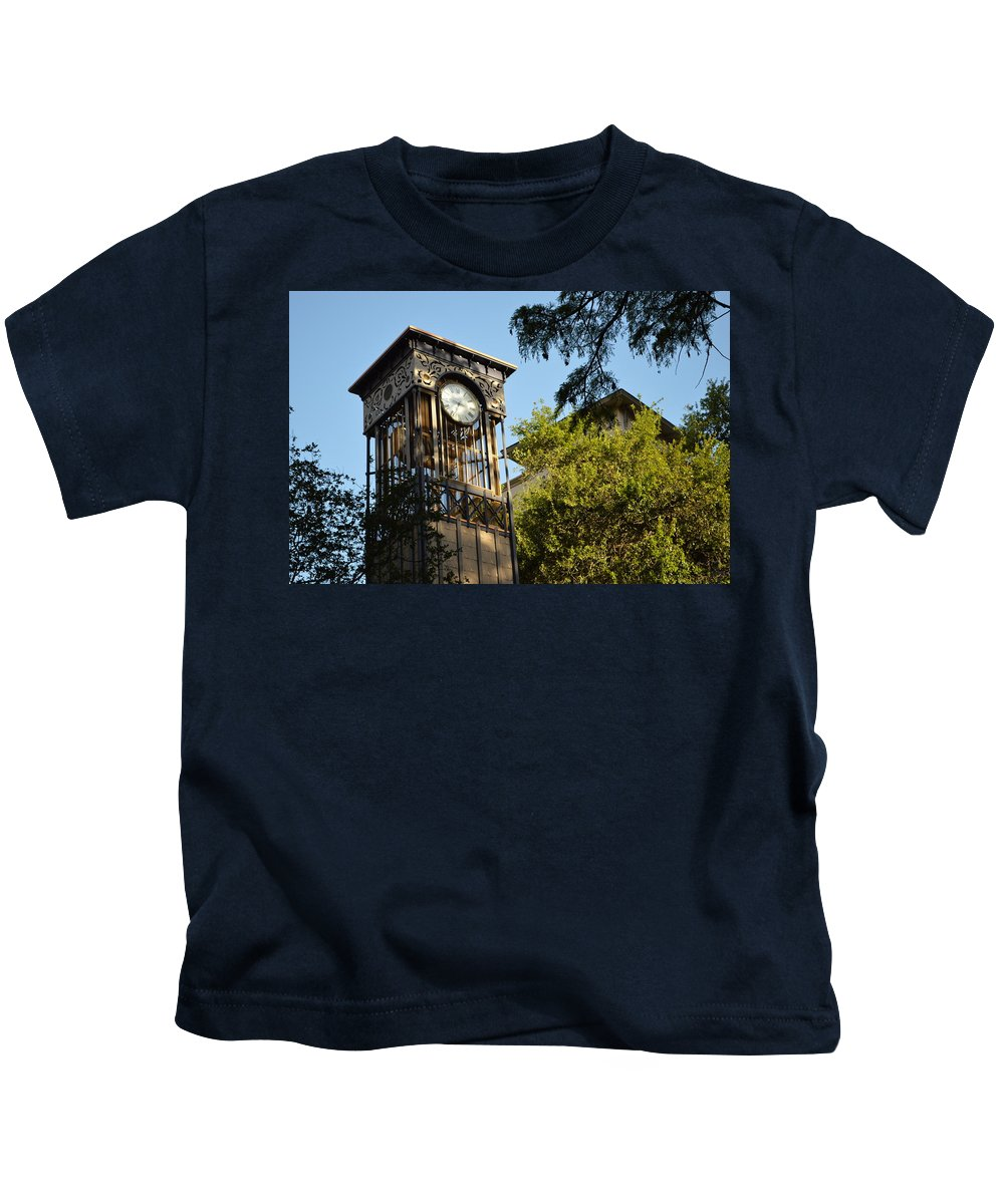 Architecture Kids T-Shirt featuring the photograph City Time by Shawn Marlow