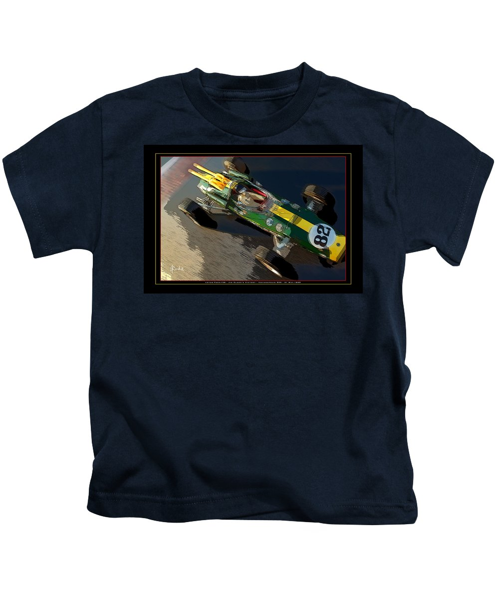 Clark Kids T-Shirt featuring the photograph Indy Victory by Craig Purdie