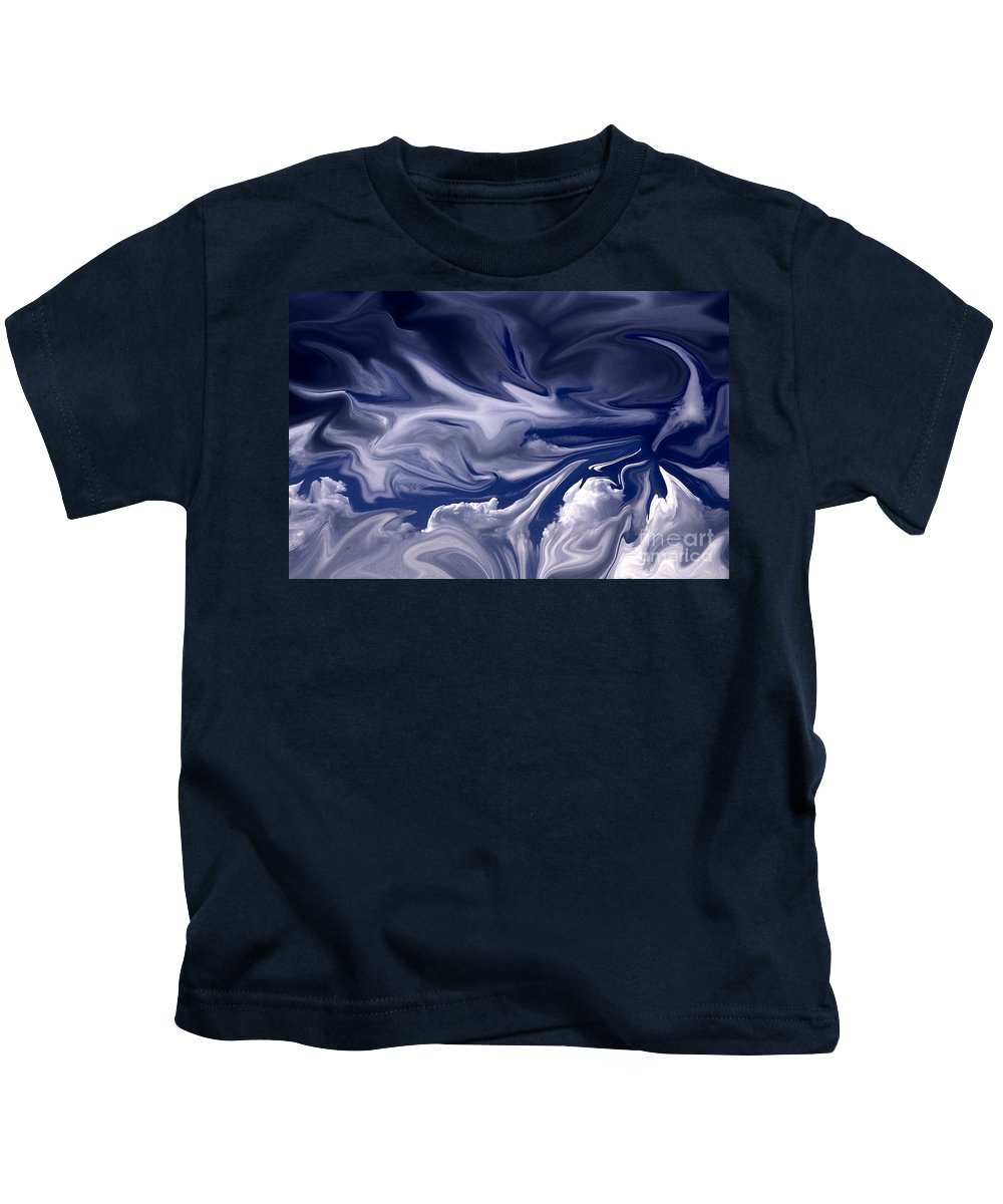 Clouds Kids T-Shirt featuring the photograph Clouds In Chaos by Paul W Faust - Impressions of Light