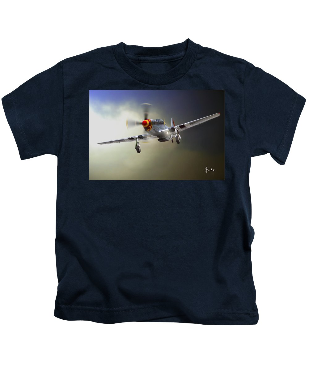 Mustang Kids T-Shirt featuring the photograph Comin' Home by Craig Purdie