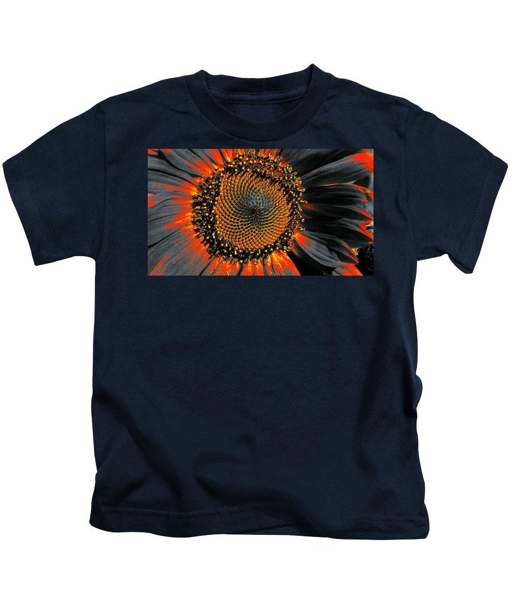 Coneflower Kids T-Shirt featuring the photograph Coneflower Heart by Tim G Ross