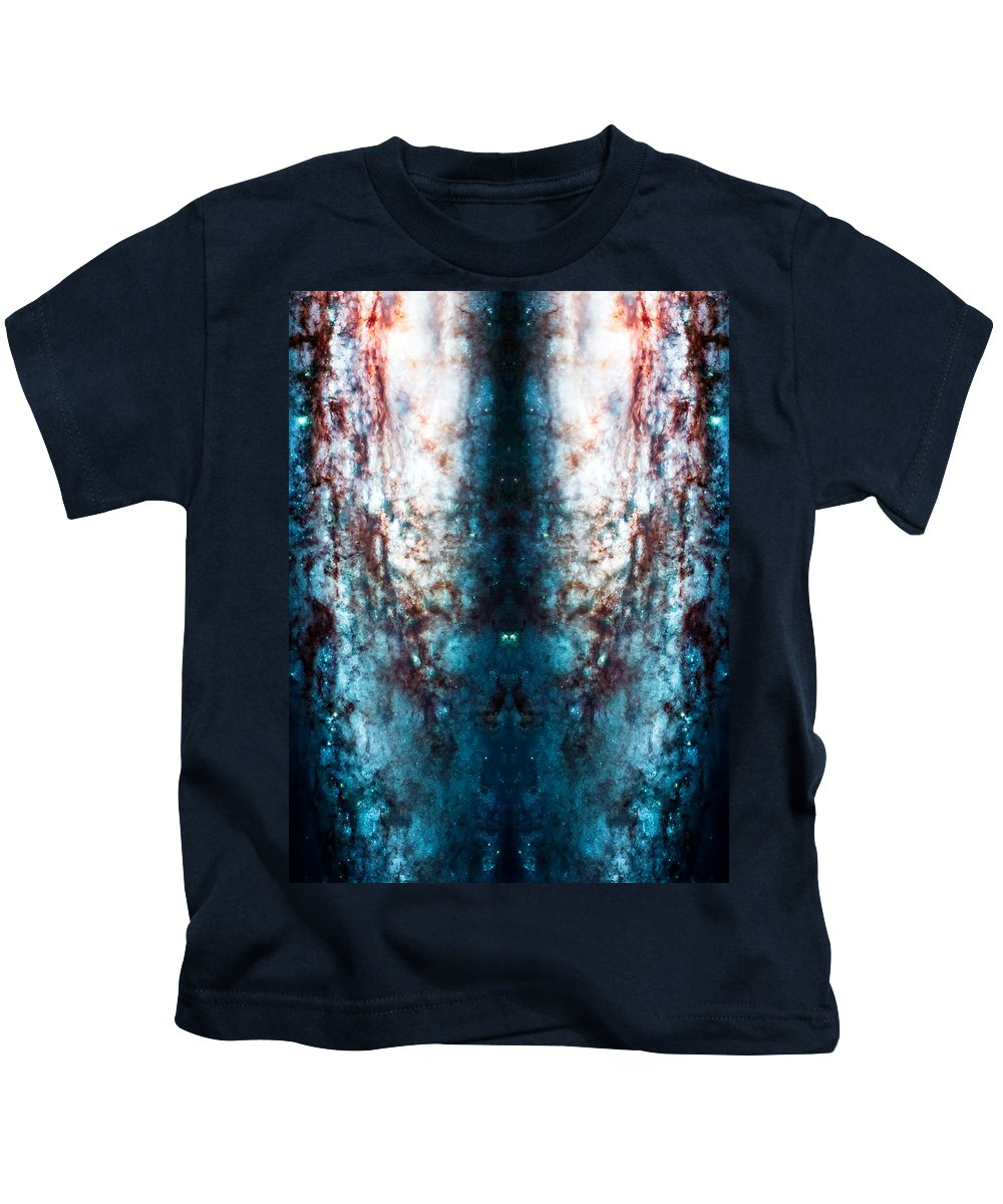 Universe Kids T-Shirt featuring the photograph Cosmic Winter by Jennifer Rondinelli Reilly - Fine Art Photography