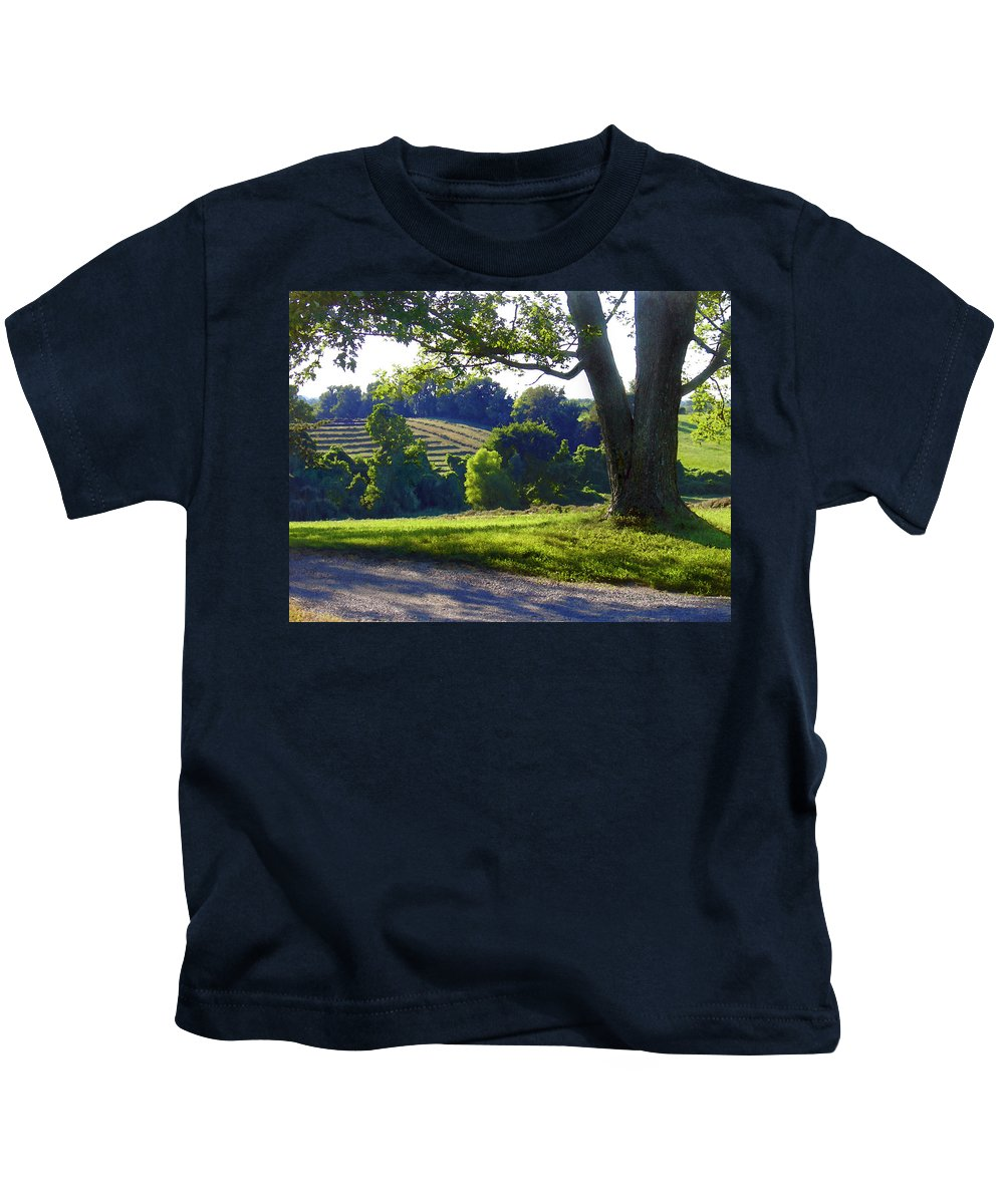 Landscape Kids T-Shirt featuring the photograph Country Landscape by Steve Karol