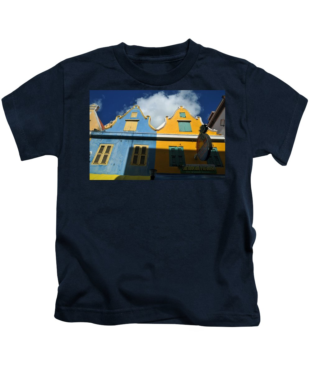Old Building Kids T-Shirt featuring the photograph Curacao by Jorge Erick Ramos
