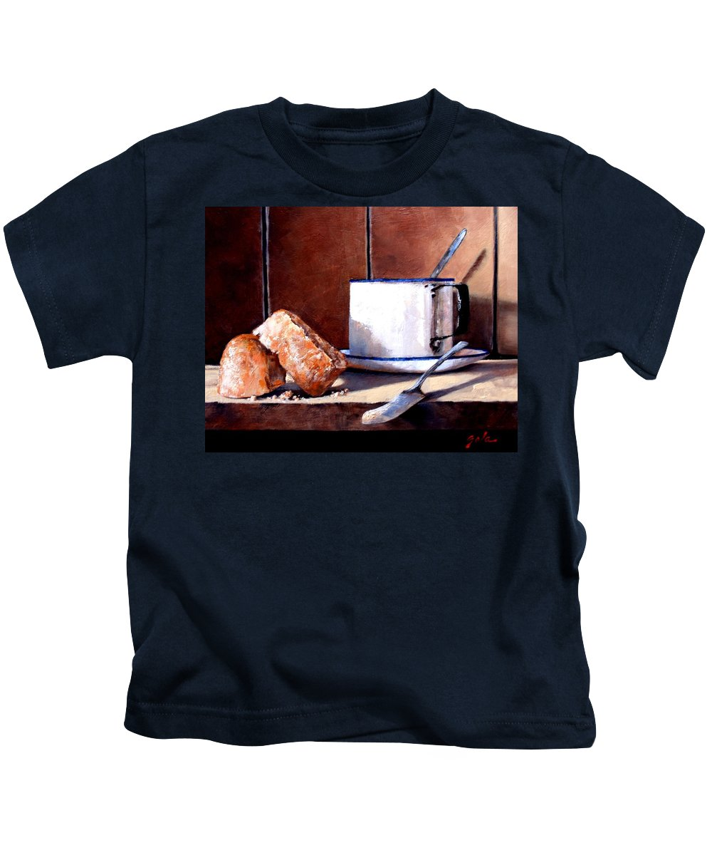 Still Life Kids T-Shirt featuring the painting Daily Bread Ver 2 by Jim Gola