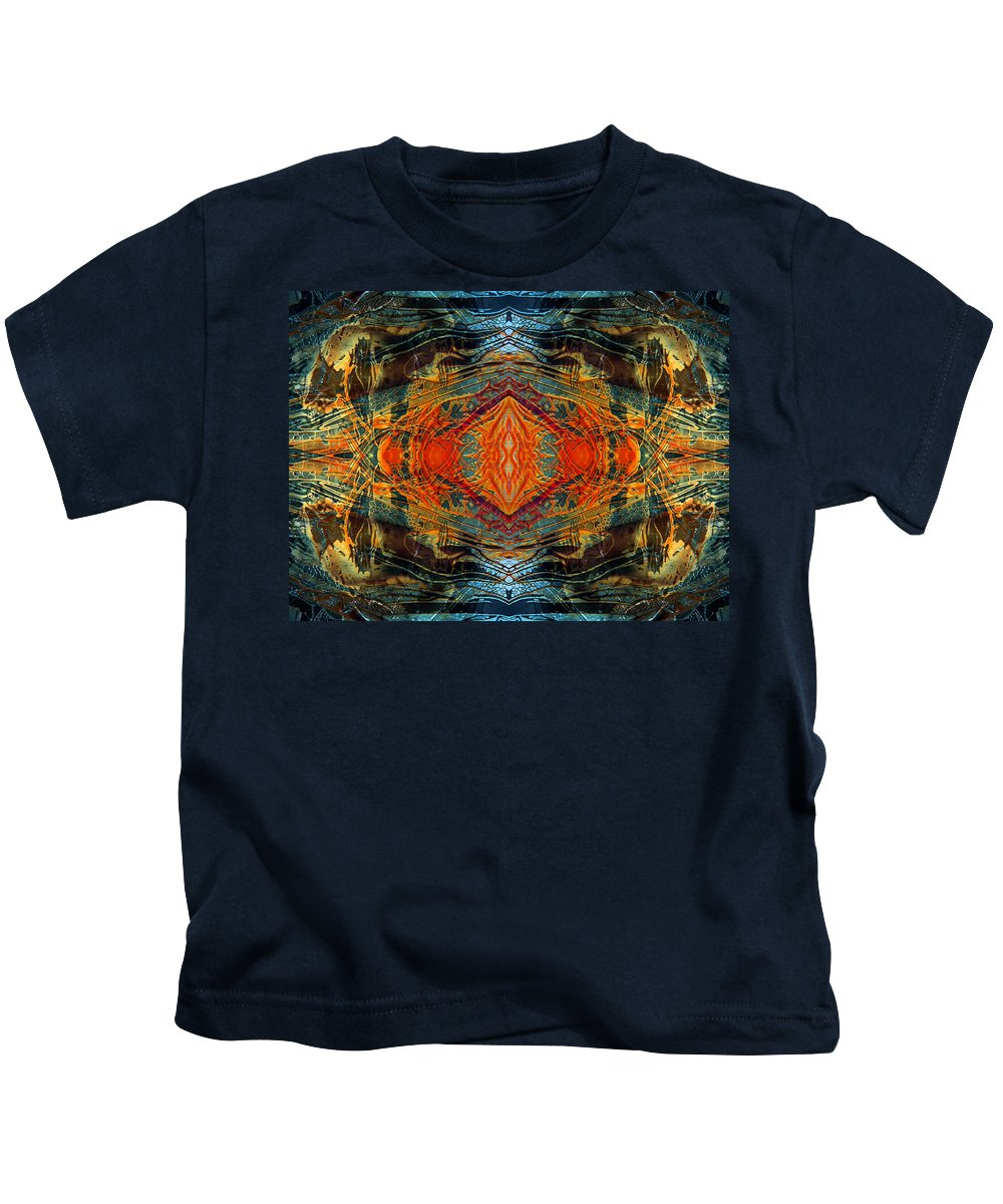Surrealism Kids T-Shirt featuring the digital art Decalcomaniac Intersection 2 by Otto Rapp