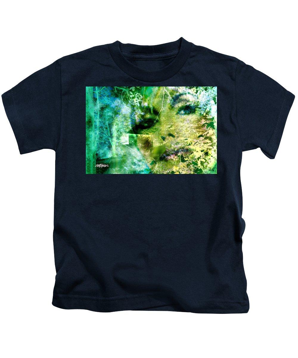 Deep Woods Wanderings Kids T-Shirt featuring the digital art Deep Woods Wanderings by Seth Weaver