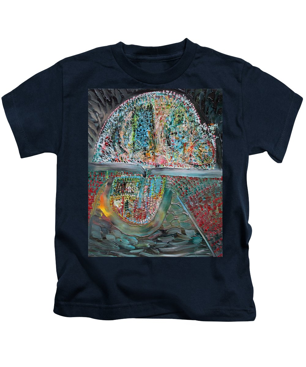 Dome Kids T-Shirt featuring the painting Dome by Fabrizio Cassetta