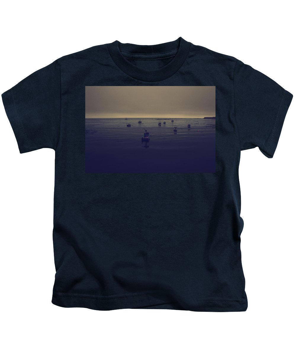 Point Arena Kids T-Shirt featuring the photograph Done For The Day by Laurie Search