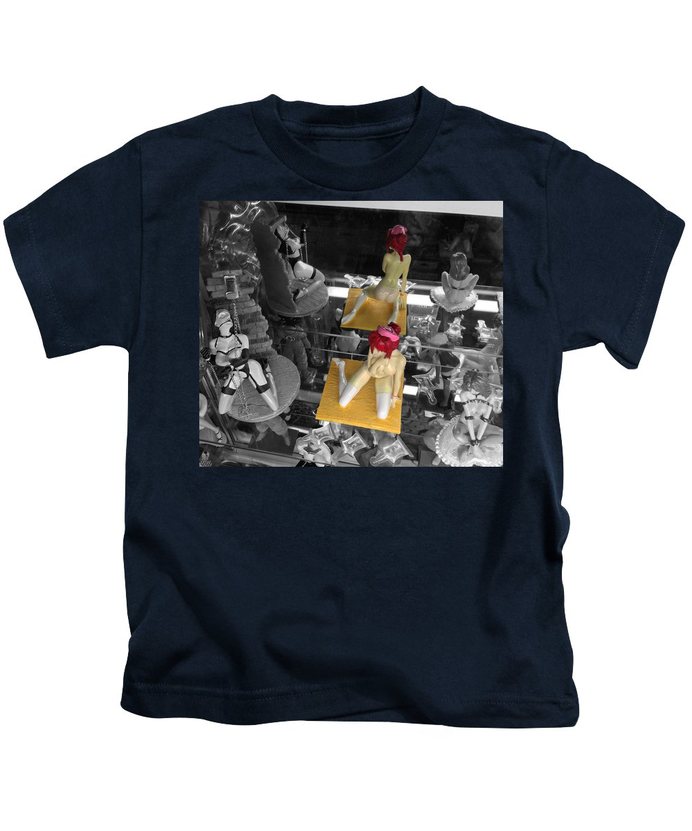 Kids T-Shirt featuring the photograph Don't Show Mom by David Pantuso