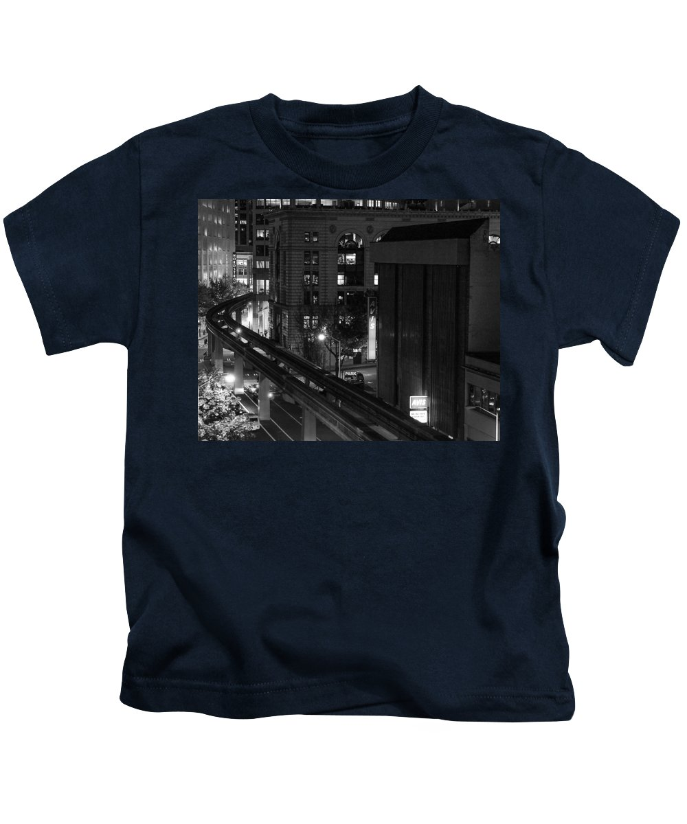 Seattle Kids T-Shirt featuring the photograph Downtown In Seattle by Daren Johnson