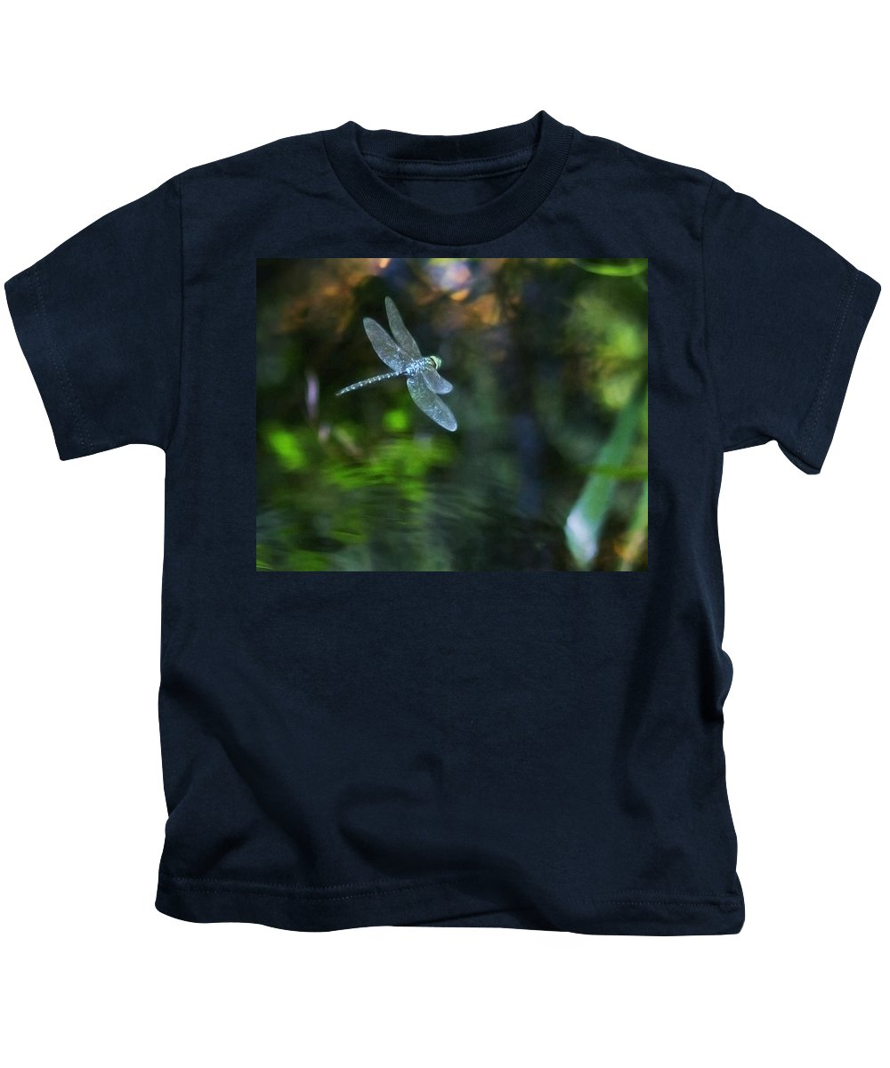 Dragonfly Kids T-Shirt featuring the photograph Dragonfly No 1 by Belinda Greb