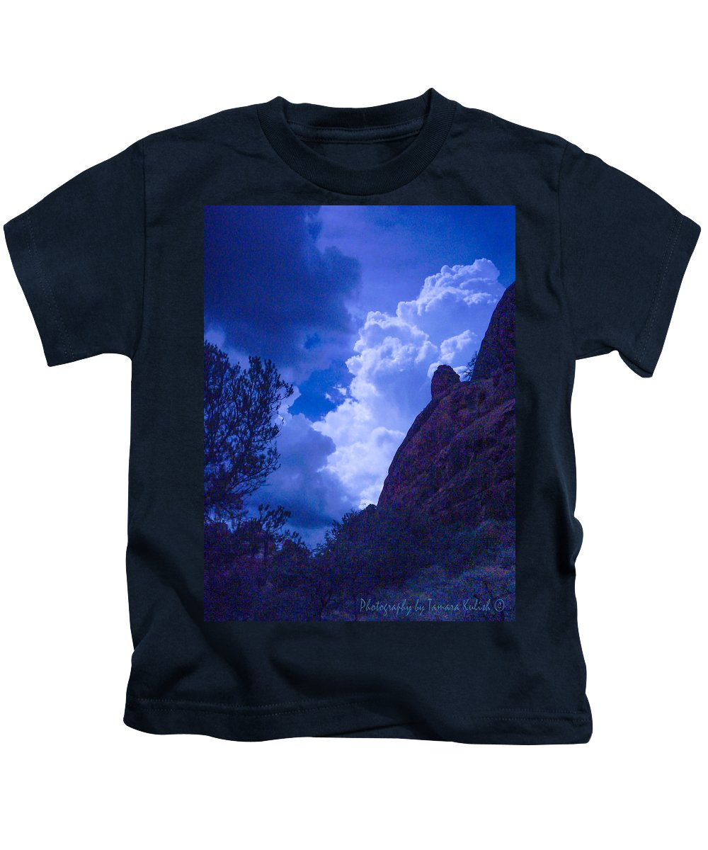 Photo Kids T-Shirt featuring the photograph Drama Sky Sedona by Tamara Kulish