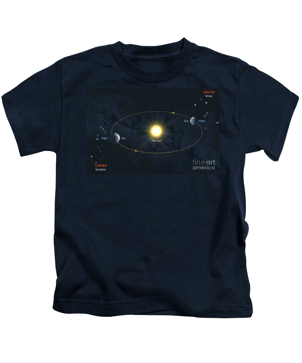Earth Kids T-Shirt featuring the photograph Earth's Orbit by Mark Garlick SPL