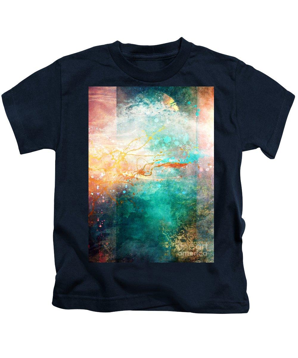 Abstract Kids T-Shirt featuring the digital art Ecstatic by Aimee Stewart