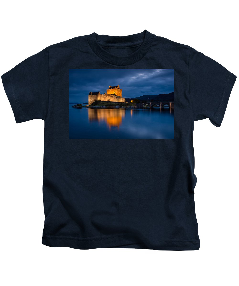Castle Kids T-Shirt featuring the photograph Eilean Donan Castle by Michael Blanchette
