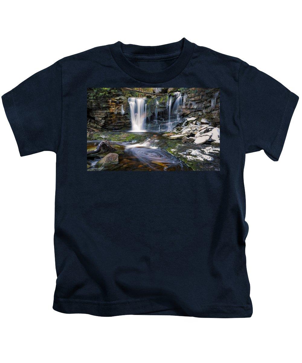 Fall Kids T-Shirt featuring the photograph Elakala Falls by Eduard Moldoveanu
