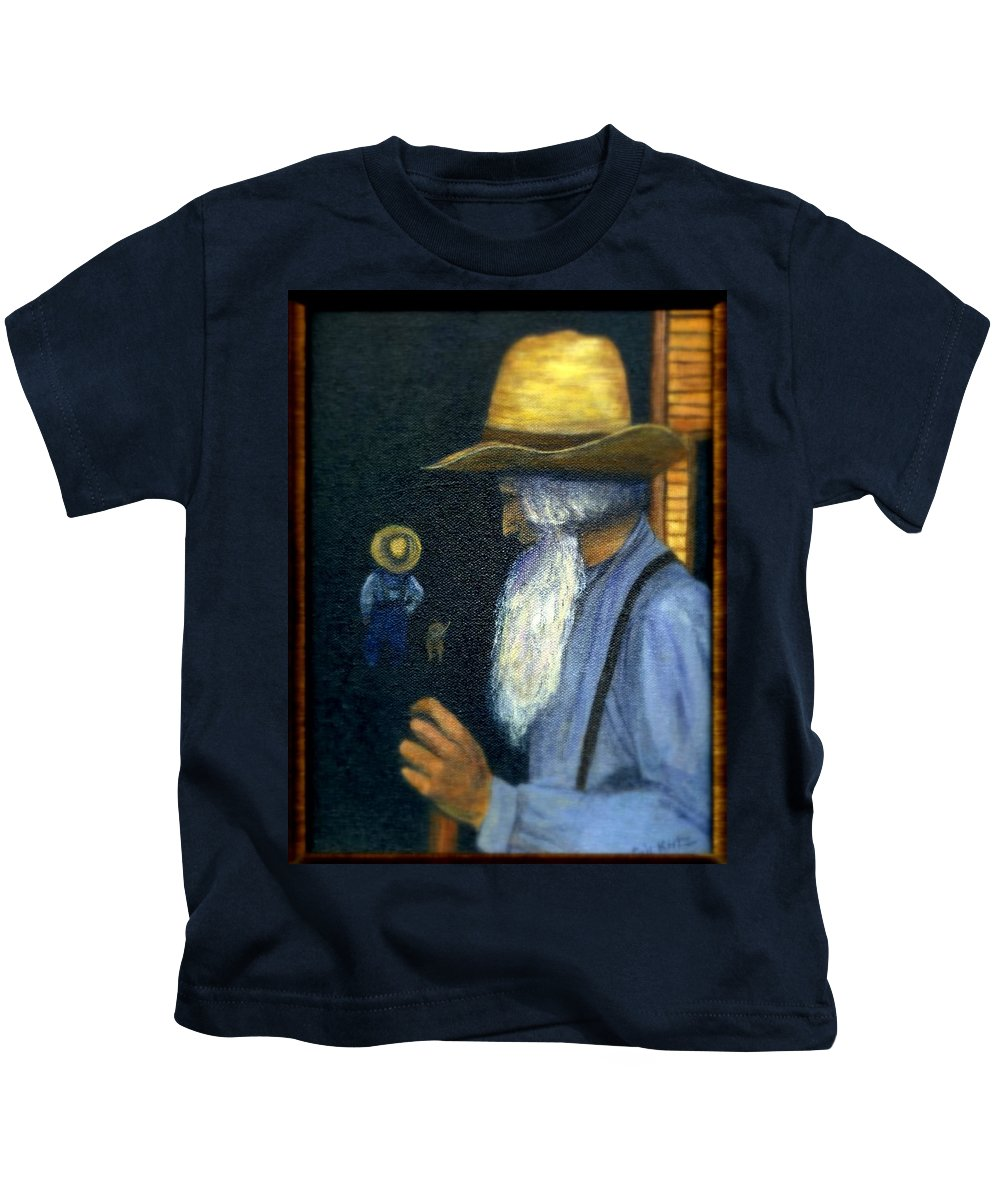 Men Kids T-Shirt featuring the painting Eli Remembers by Gail Kirtz
