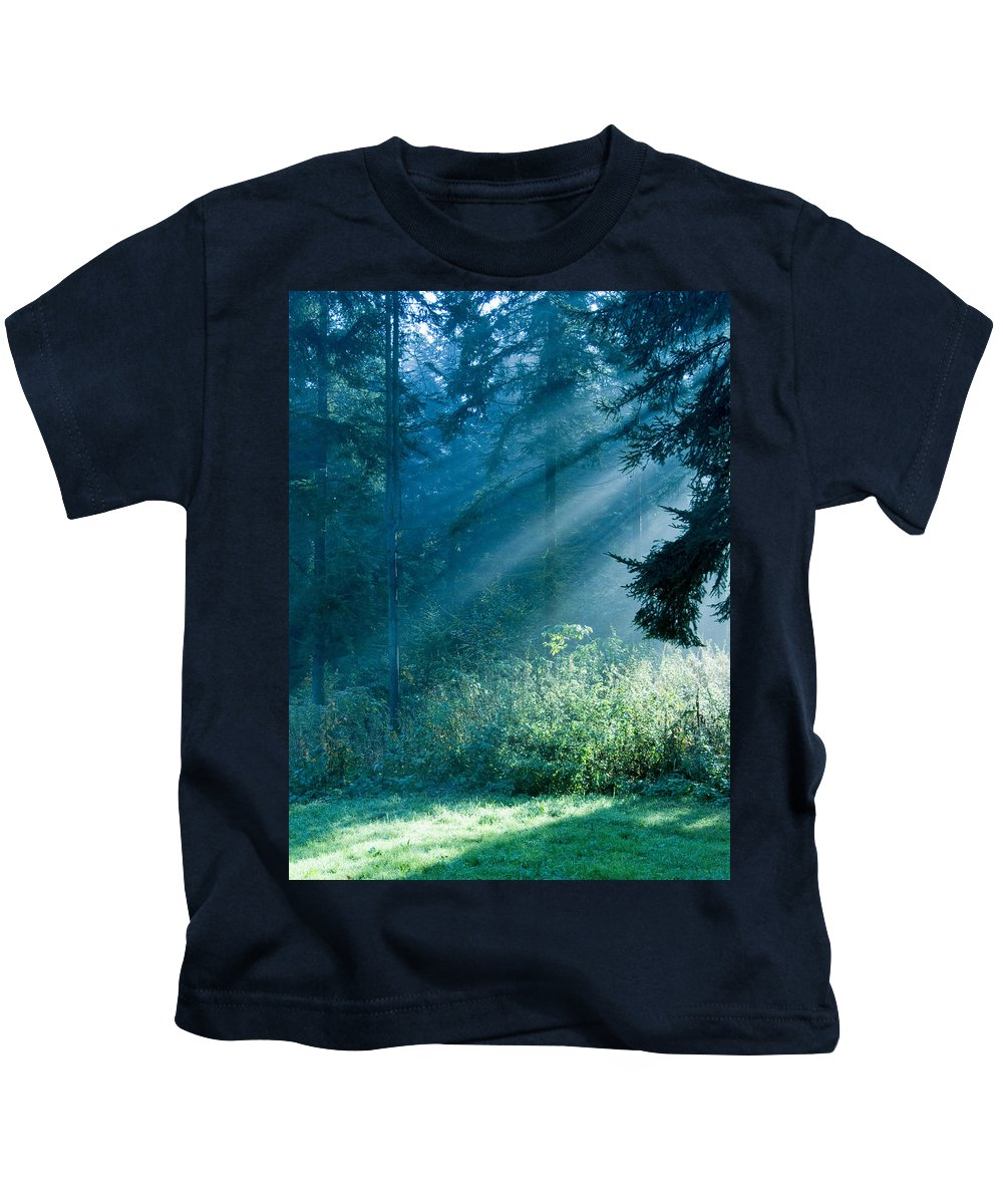 Nature Kids T-Shirt featuring the photograph Elven Forest by Daniel Csoka