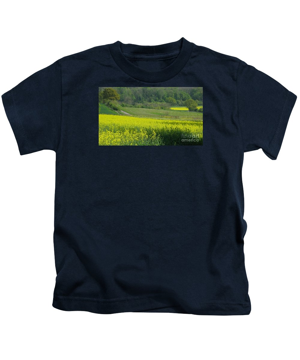 England Kids T-Shirt featuring the photograph English Countryside by Ann Horn