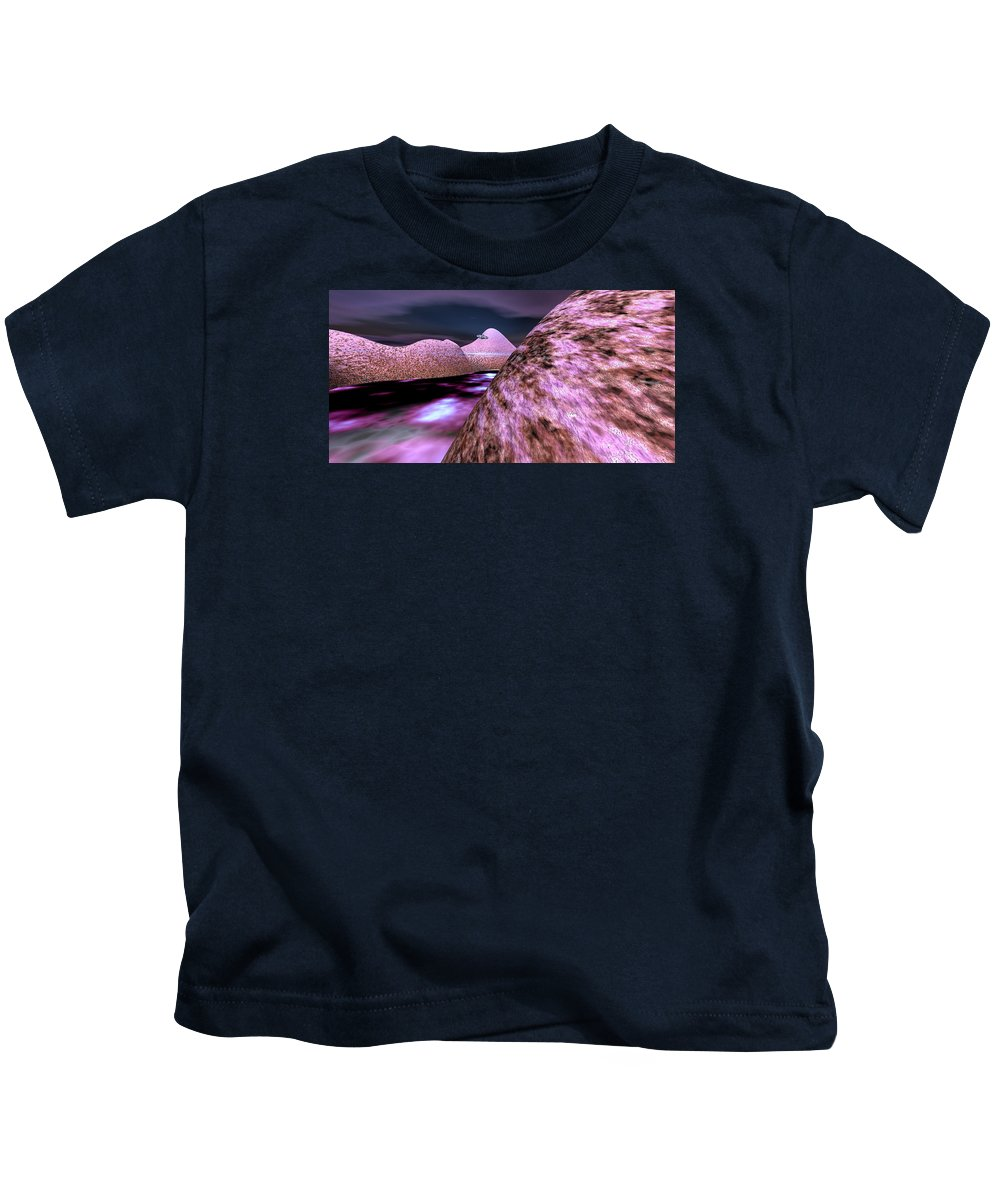Ufo Kids T-Shirt featuring the digital art Exploration by Luma Studio designs
