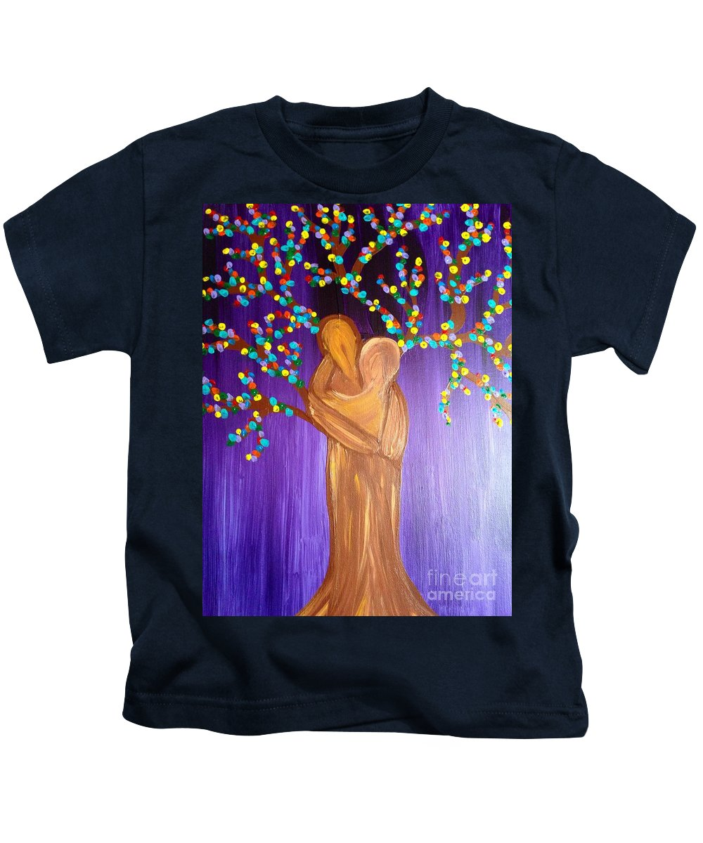 Family Kids T-Shirt featuring the painting Family Tree by Melissa Darnell Glowacki