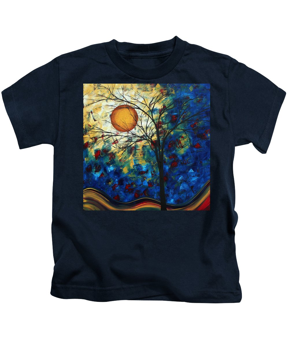 Decorative Kids T-Shirt featuring the painting Feel The Sensation By Madart by Megan Duncanson