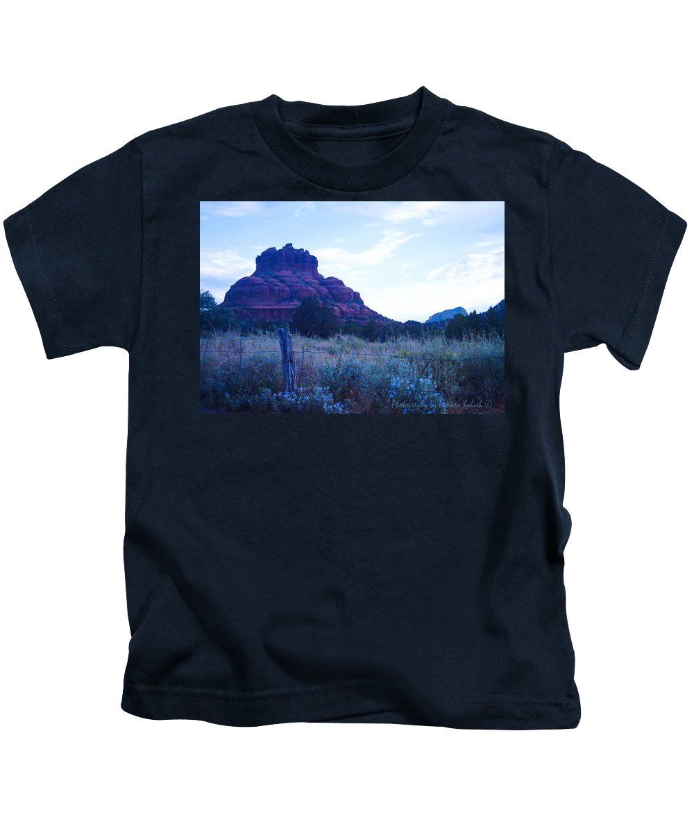 Photo Kids T-Shirt featuring the photograph Fence Near Bell Rock by Tamara Kulish