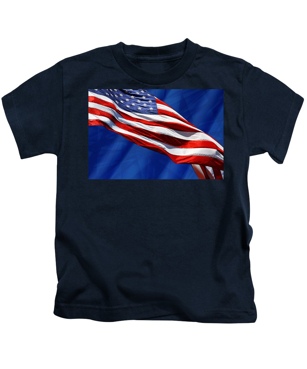 Flag Kids T-Shirt featuring the photograph Flag by John Cardamone