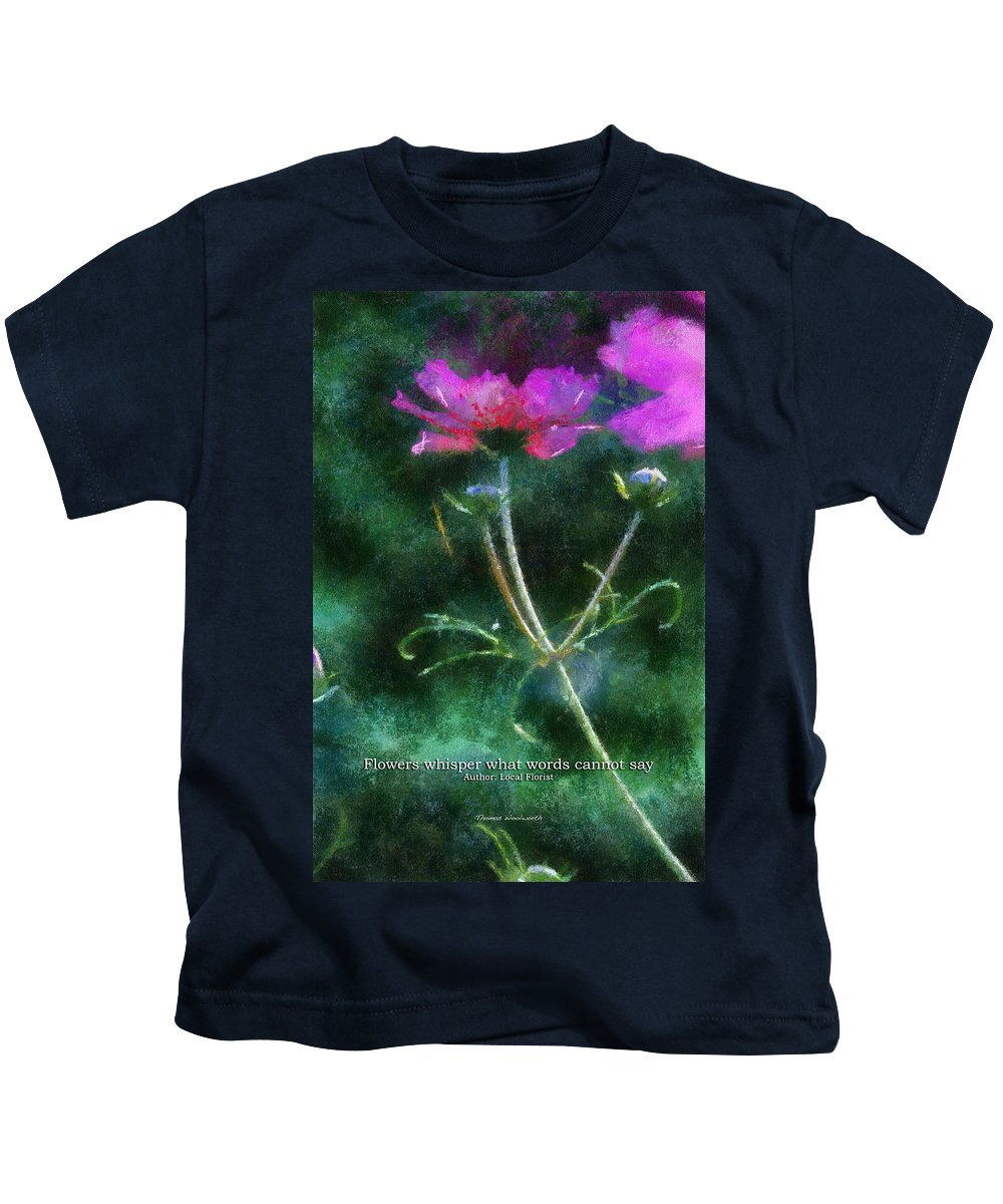 Flower Kids T-Shirt featuring the photograph Flowers Whisper 02 by Thomas Woolworth