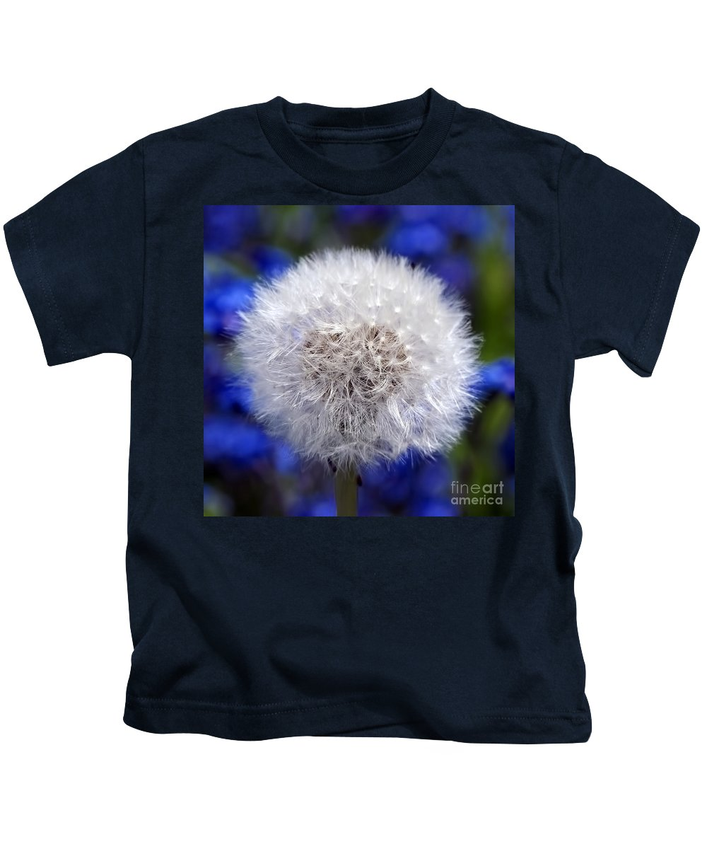 Dandelion Kids T-Shirt featuring the photograph Fluffy by Sharon Talson