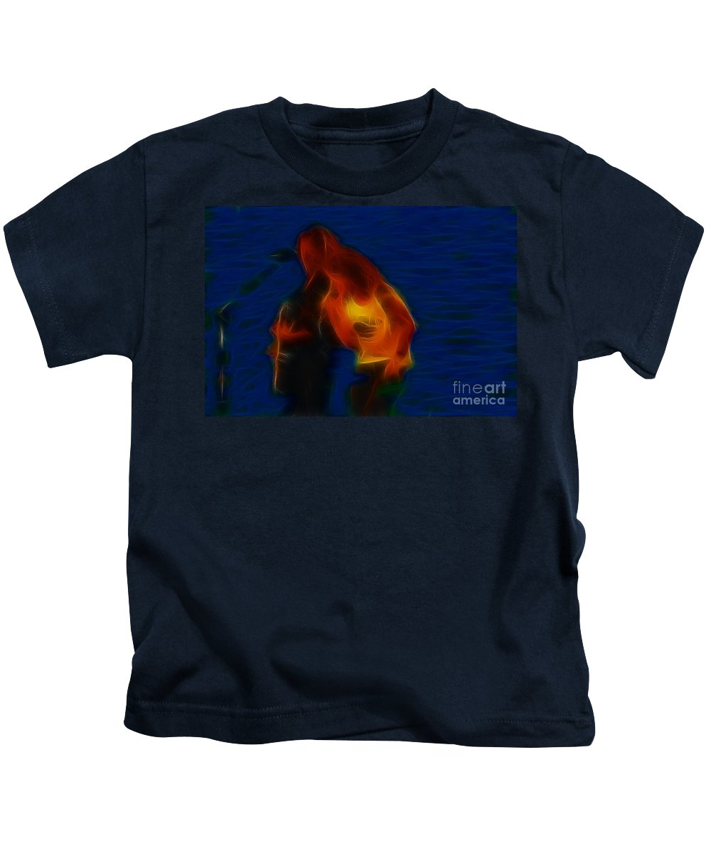 Foreigner Kids T-Shirt featuring the photograph Foreigner-ga17-fractal by Gary Gingrich Galleries
