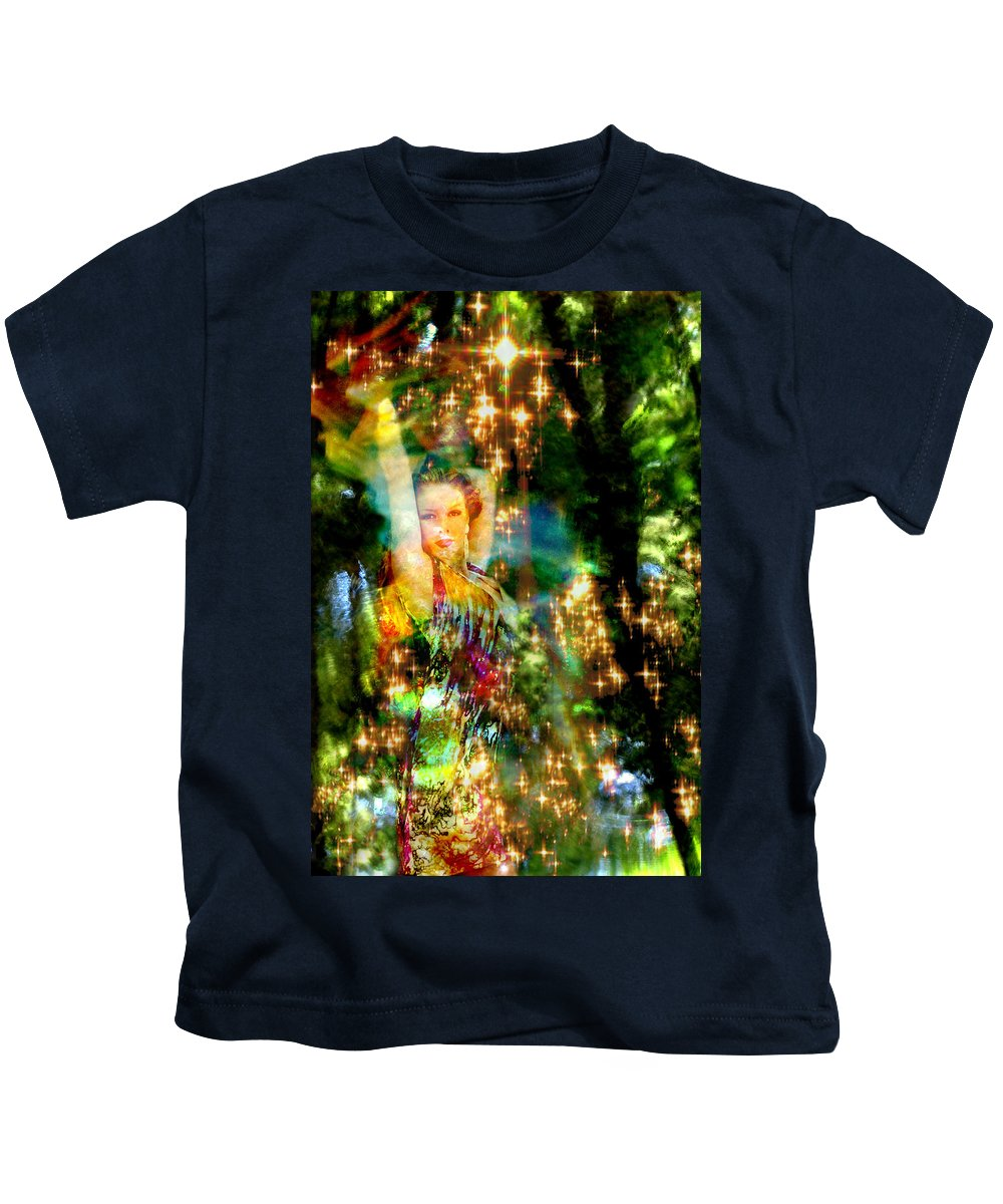 Forest Kids T-Shirt featuring the digital art Forest Goddess 4 by Lisa Yount