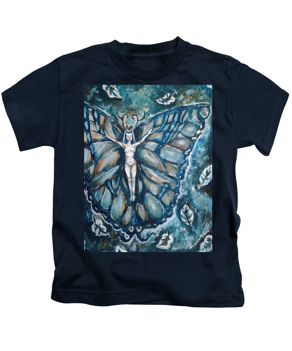 Wind Kids T-Shirt featuring the painting Free As The Wind by Shana Rowe Jackson