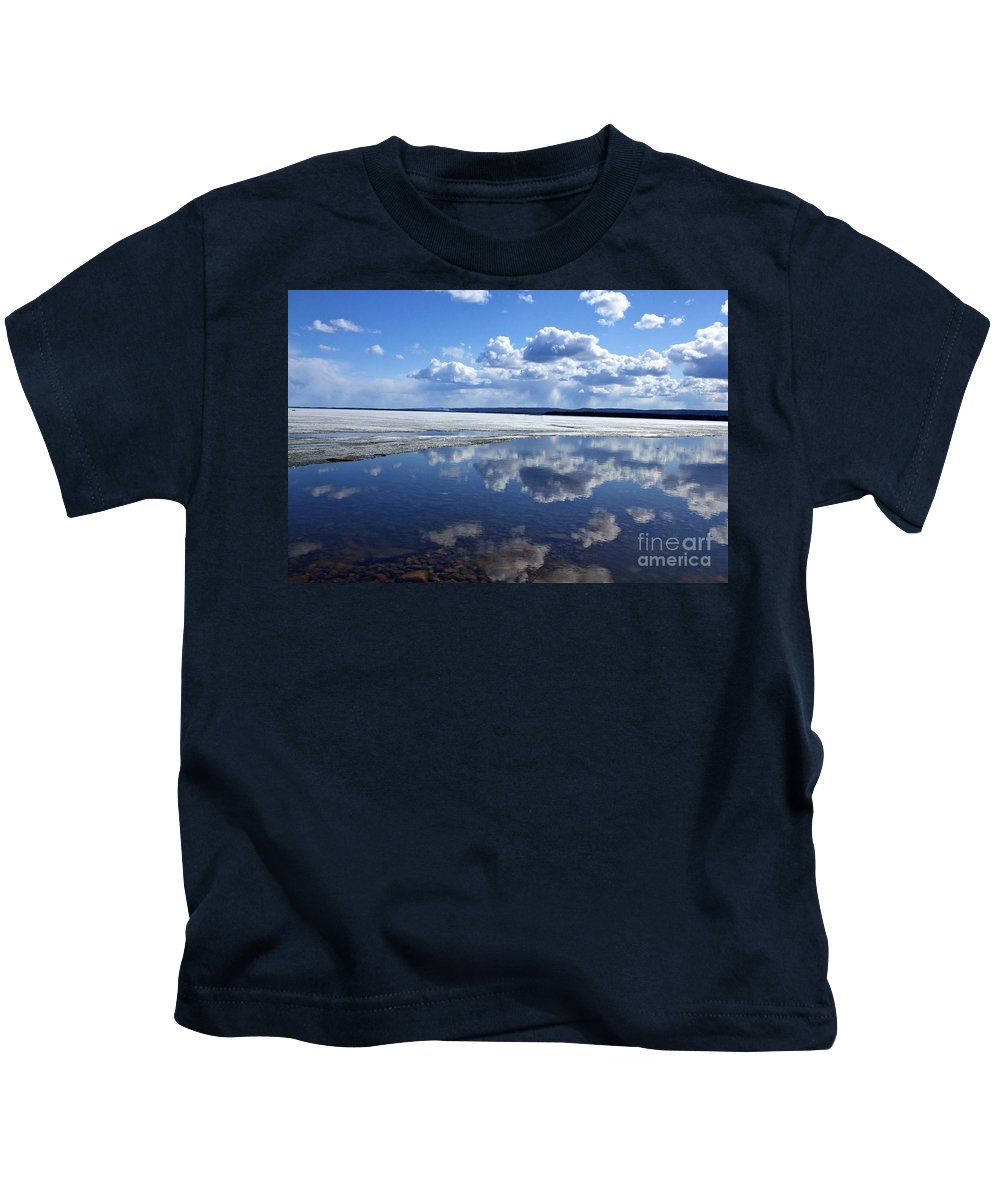 Ice Kids T-Shirt featuring the photograph Frozen Lake by Alanna DPhoto