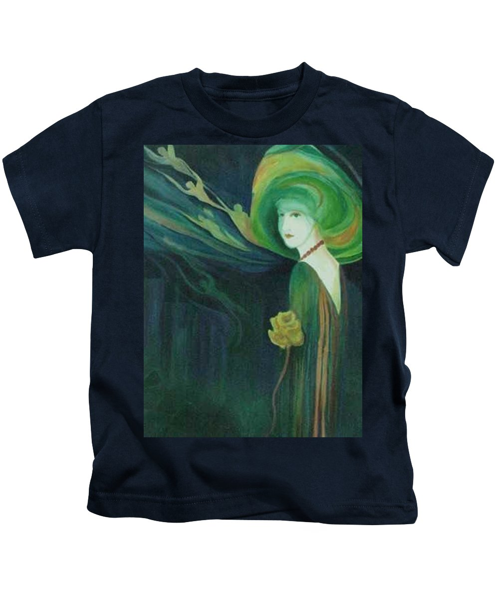 Women Kids T-Shirt featuring the painting My Haunted Past by Carolyn LeGrand