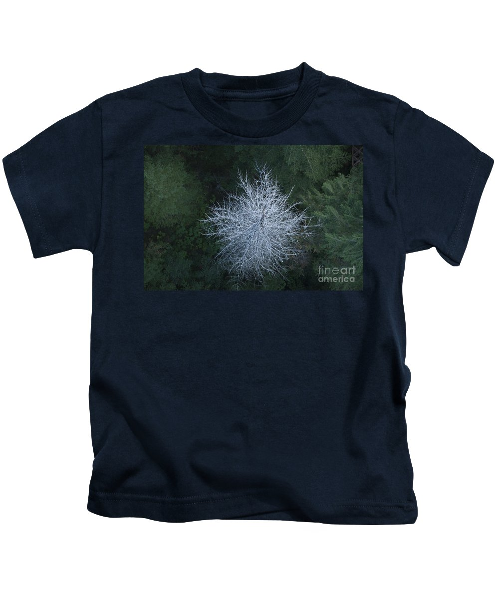 Trees Kids T-Shirt featuring the photograph Ghost Tree by Davina Parypa