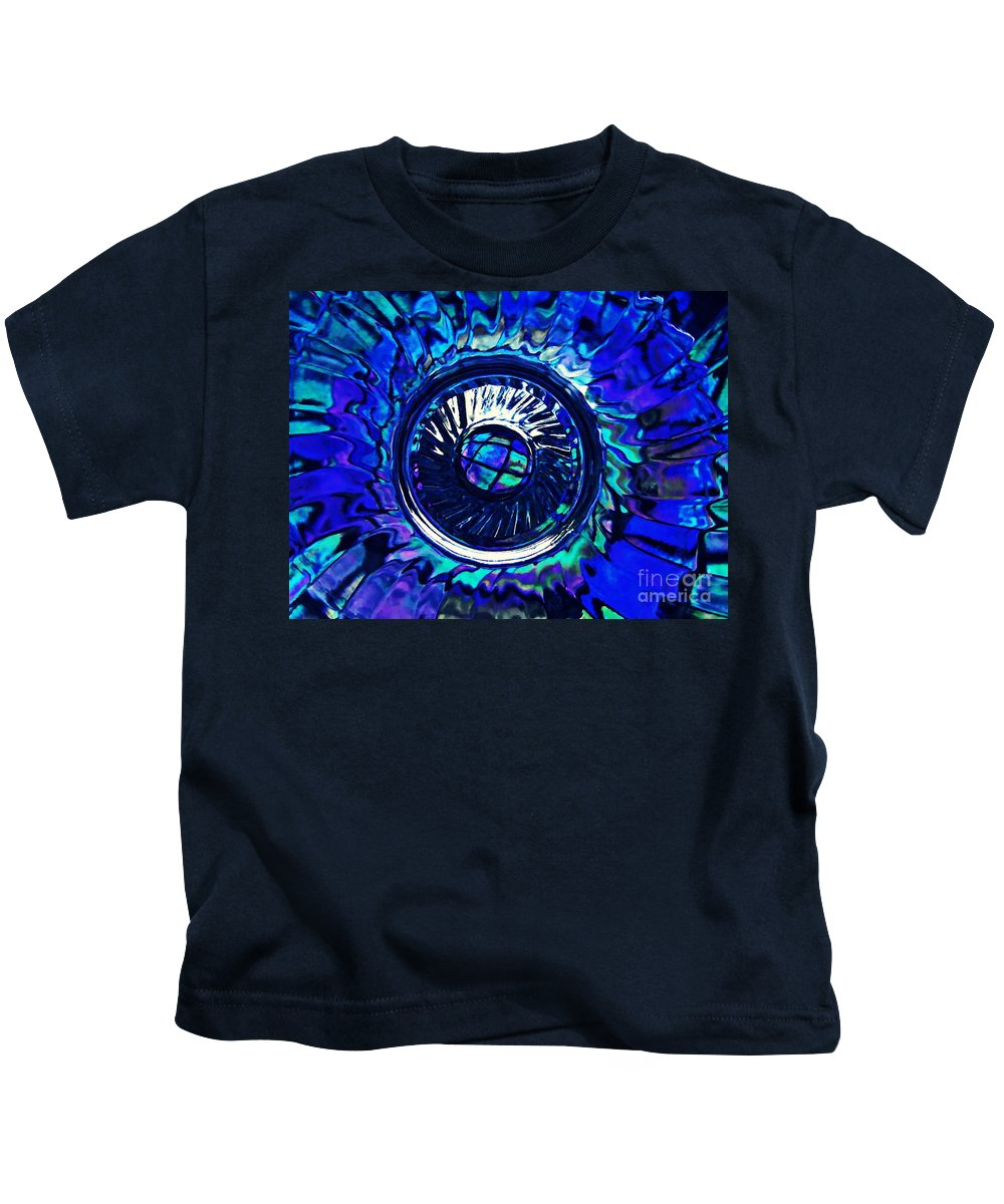 Abstract Kids T-Shirt featuring the photograph Glass Abstract 481 by Sarah Loft