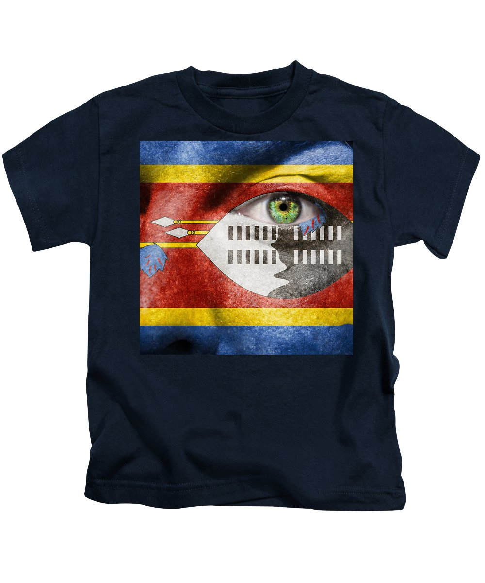 Art Kids T-Shirt featuring the photograph Go Swaziland by Semmick Photo