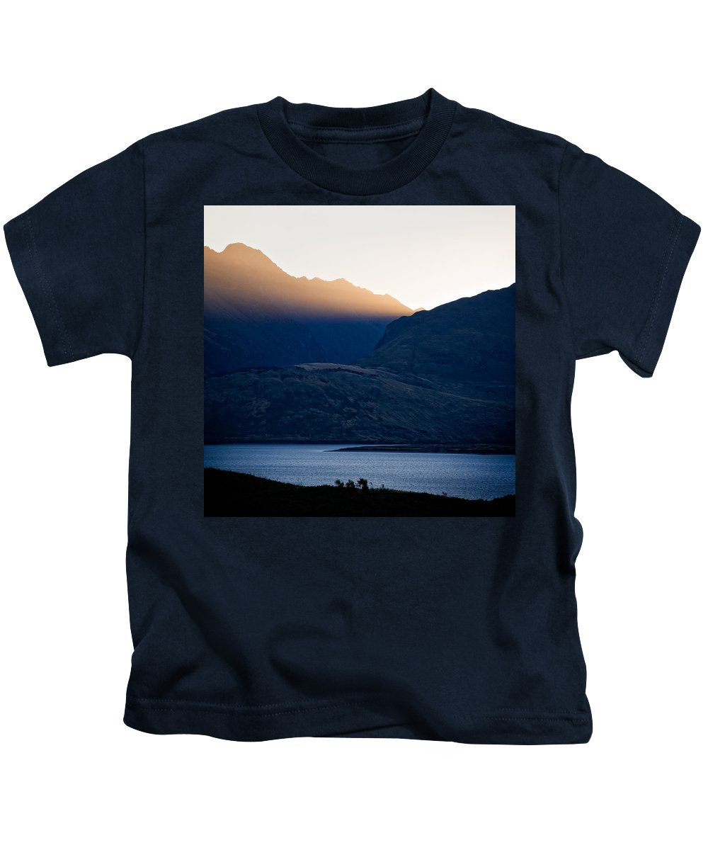 New Zealand Kids T-Shirt featuring the photograph Golden Rays by Dave Bowman
