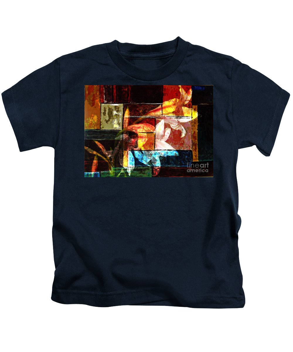 Abstract Kids T-Shirt featuring the digital art Gracefull by Yael VanGruber