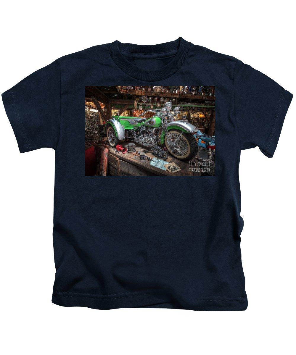 Harley Trike Kids T-Shirt featuring the photograph Harley Trike by David B Kawchak Custom Classic Photography