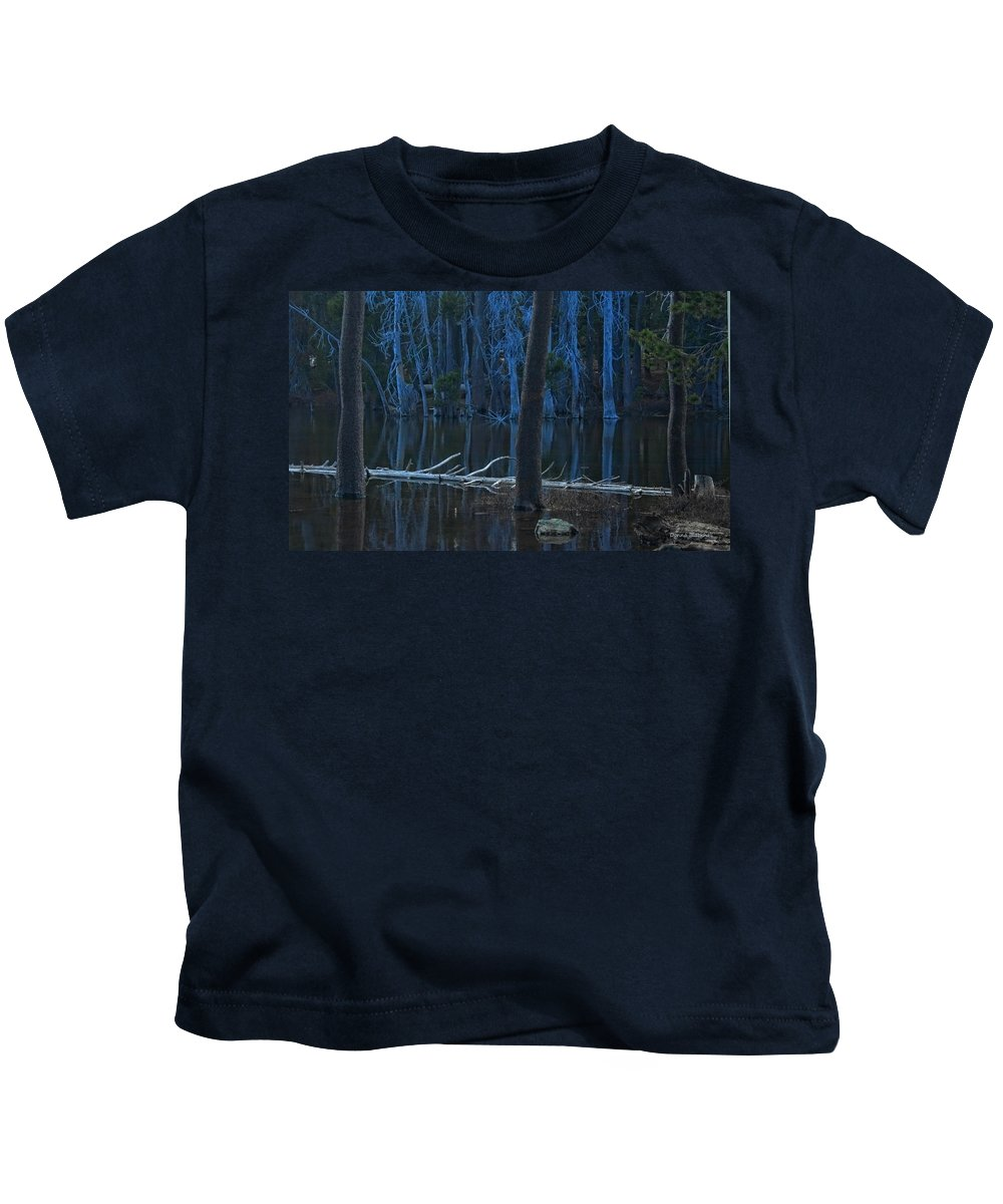 Lake Kids T-Shirt featuring the photograph Haunted Forest by Donna Blackhall