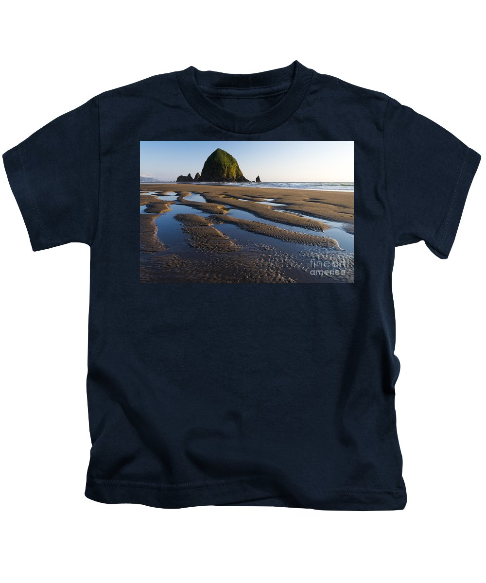 Nature Kids T-Shirt featuring the photograph Haystack Rock by John Shaw
