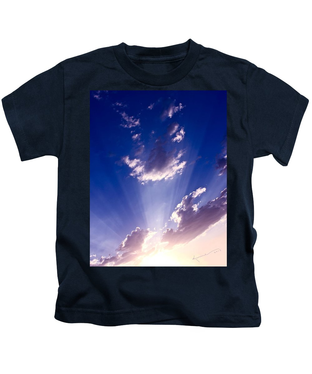 His Glory Kids T-Shirt featuring the photograph His Glory 2 by Kume Bryant