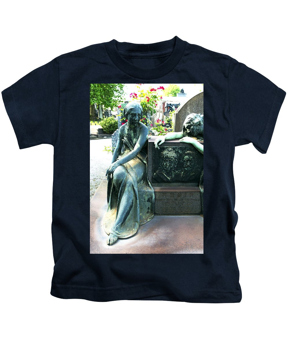 Vertical Kids T-Shirt featuring the photograph Hoffman Memorial II Monumental Cemetery Milan Italy by Sally Rockefeller