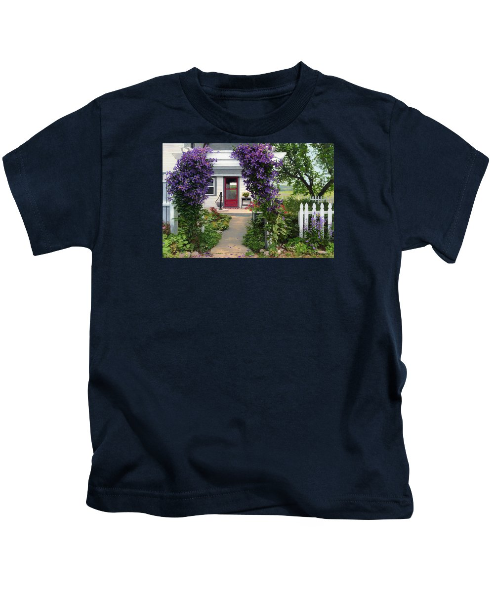 Color Pencil Kids T-Shirt featuring the drawing Home by Bruce Morrison